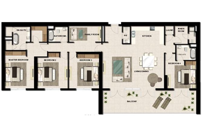 Bedroom Apartments For Rent In Al Zeina